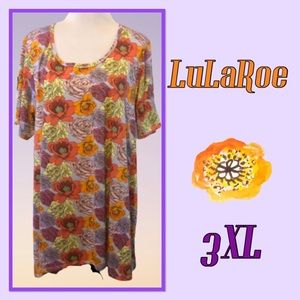 LuLaRoe Light Blue Floral Tee 3XL